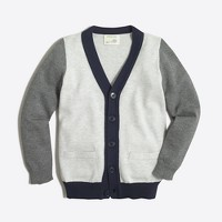 Boys' colorblock cardigan sweater