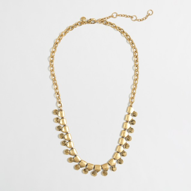 Factory gold and crystal necklace