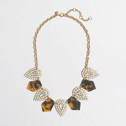 Factory tortoise and crystal necklace