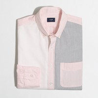 Slim pieced seersucker shirt