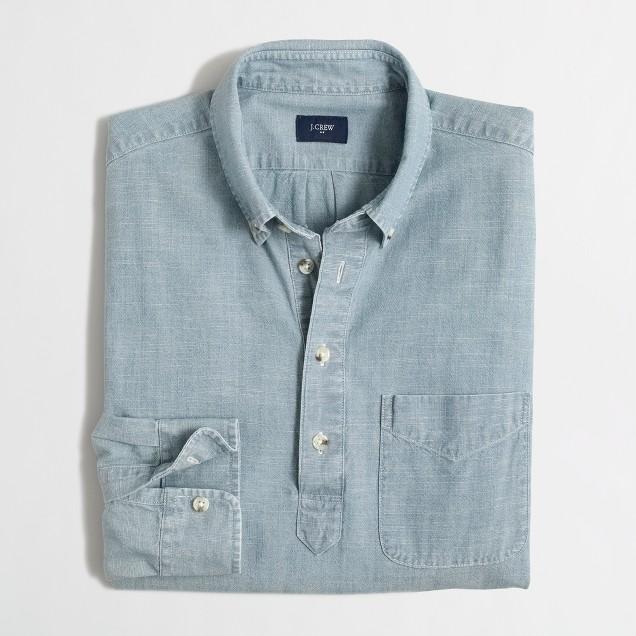 Chambray popover shirt