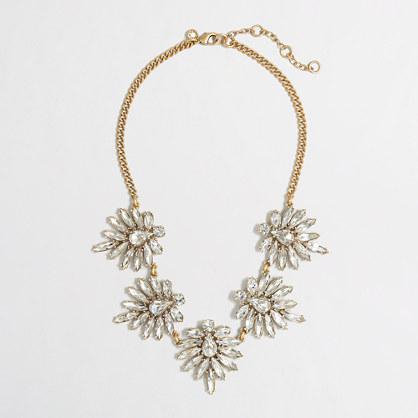 Factory crystal petals necklace