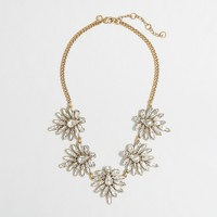 Factory crystal petals necklace
