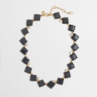 Factory stone squares necklace
