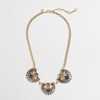 Factory crystal dome trio necklace