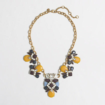 Factory stone medallion necklace