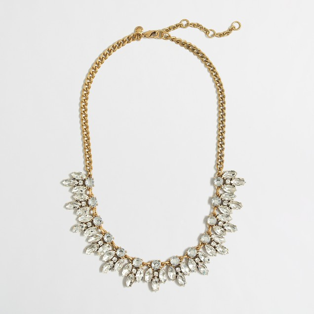 Factory crystal drops necklace