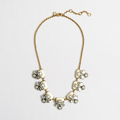 Factory perched clusters necklace