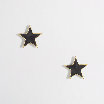 Factory star stud earrings