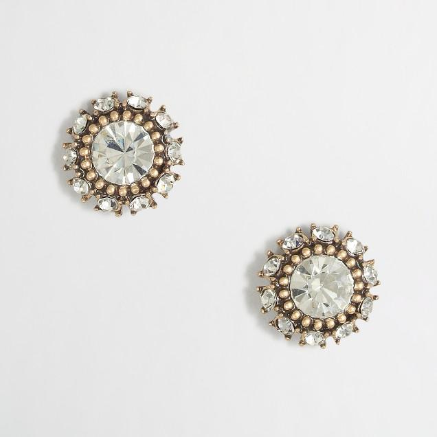 Factory multi-crystal stud earrings