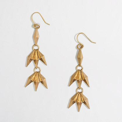 Factory golden dangle earrings