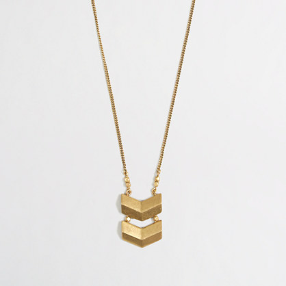 Factory simple chevron pendant necklace