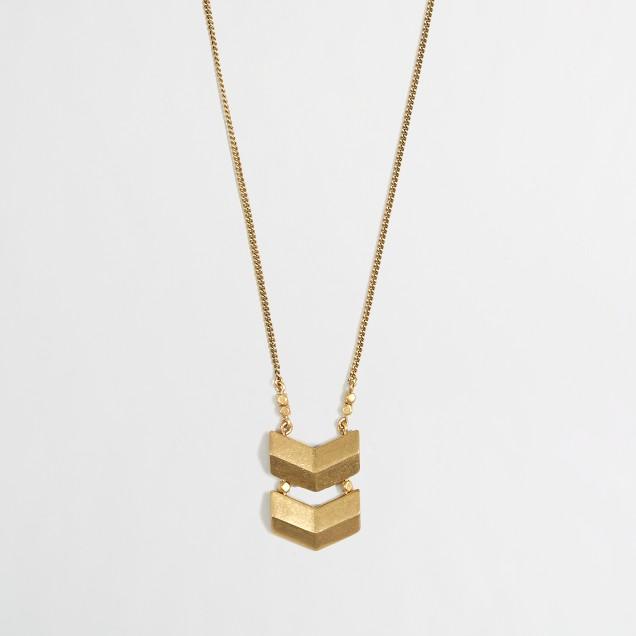 Factory simple chevron pendant necklace