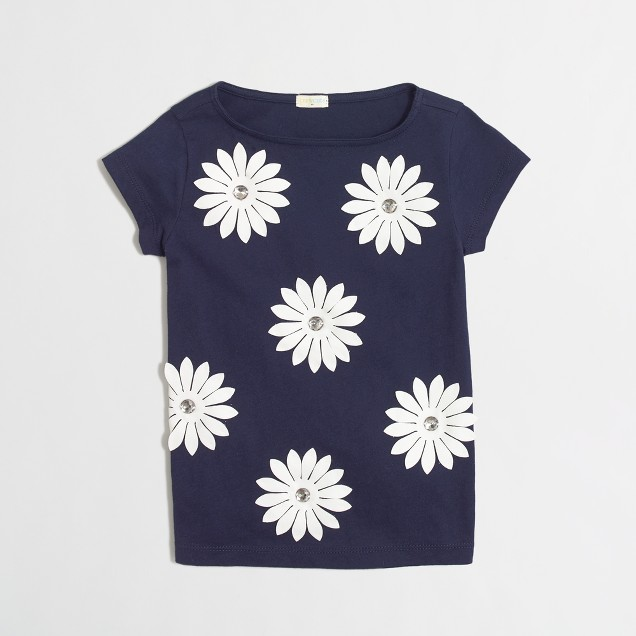 Girls' flowers t-SHIRT