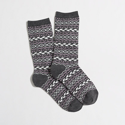 Factory diamond fair isle trouser socks