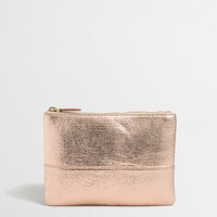Metallic crackle pouch