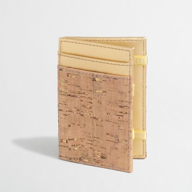 Cork inside-out wallet