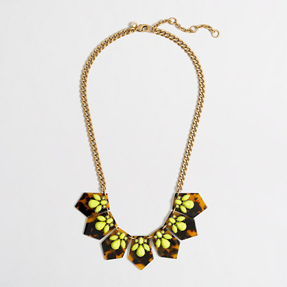 Factory crystal and tortoise necklace