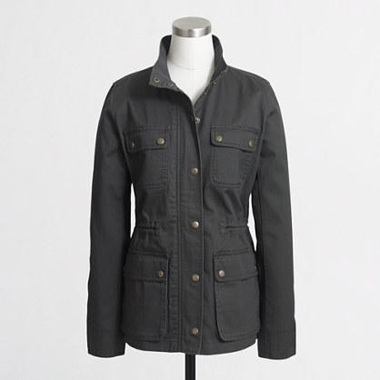 Cinched-waist field jacket