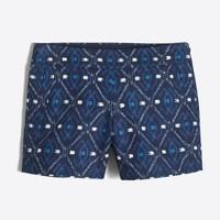 basketweave short in ikat