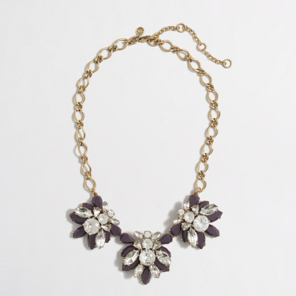 Factory stacked crystals necklace