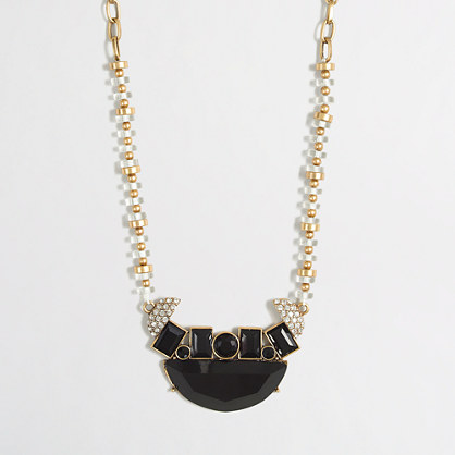 Factory geometric centerpiece necklace