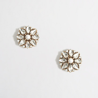 Factory pearl burst earrings