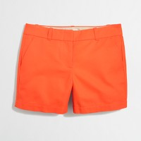 "5"" textured cotton short"