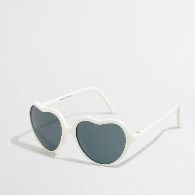 Girls' heart sunglasses