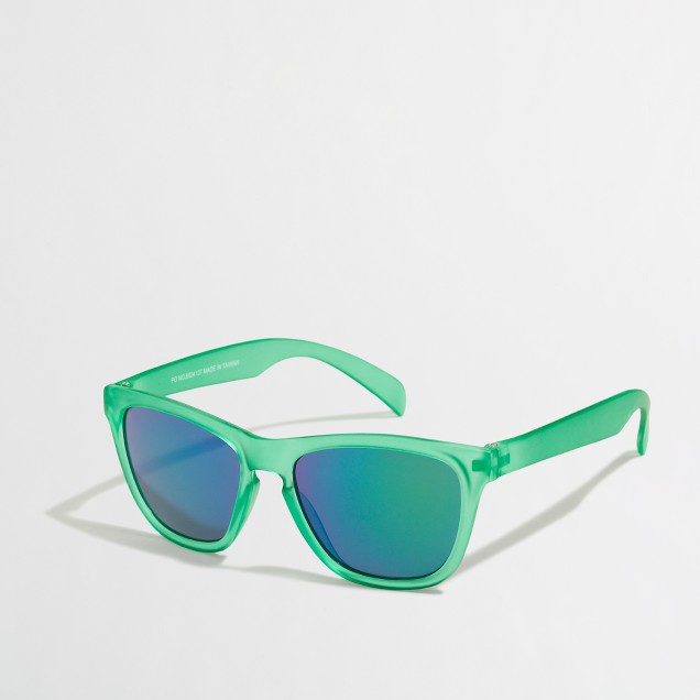 Boys' translucent green sunglasses