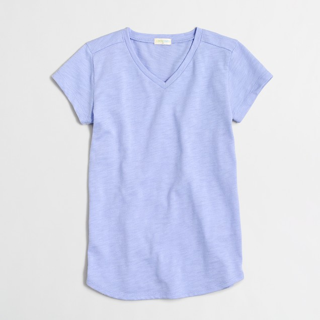 Girls' V-neck T-shirt