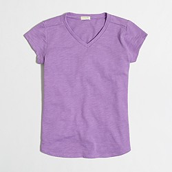 Factory girls' V-neck T-shirt