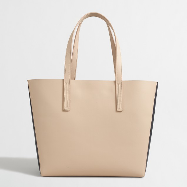 Colorblock carrier tote