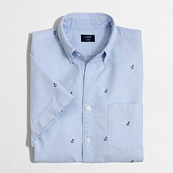 Factory short-sleeve oxford shirt in anchor