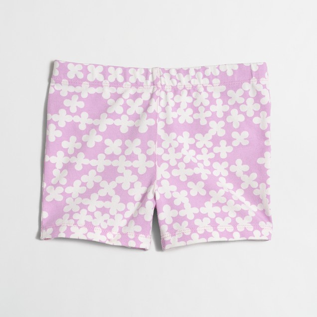 Girls' handstand short in clover