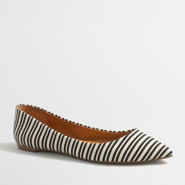 Amelia striped flats