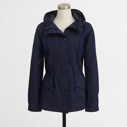 Factory hooded nylon jacket