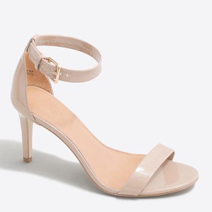 Patent high-heel sandals