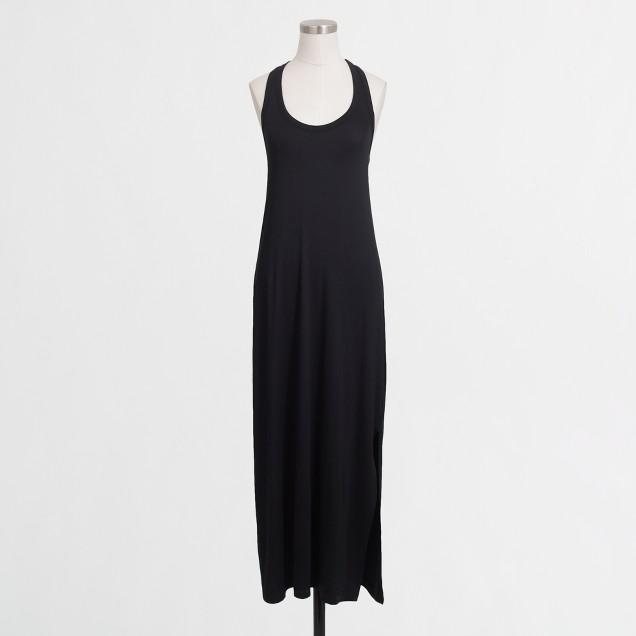 Knit racerback maxi dress