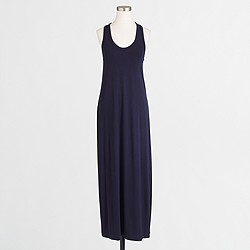 Factory knit racerback maxi dress