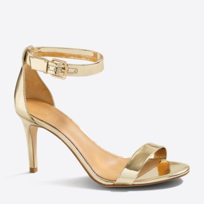 Metallic high-heel sandals factorywomen shoes c