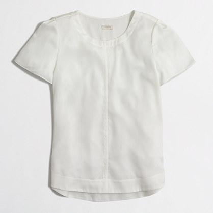 Back-pleat drapey t-shirt