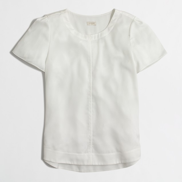Back-pleat drapey t-shirt