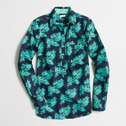 Petite printed popover shirt