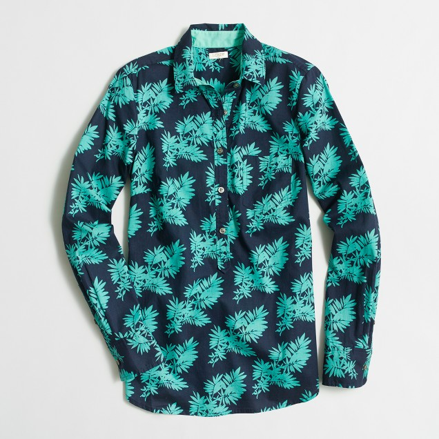 Printed popover shirt