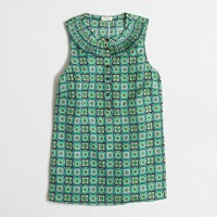 Printed pleated cami top
