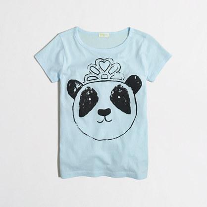 Girls' panda with tiara keepsake t-SHIRT