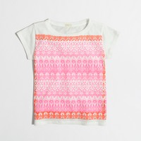 Girls' floral scarf keepsake t-SHIRT