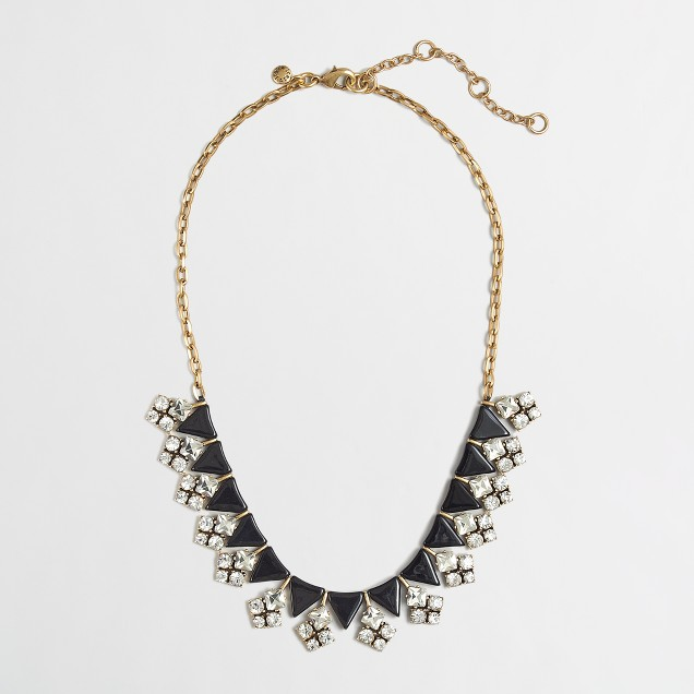 Factory arrow and crystal clusters necklace