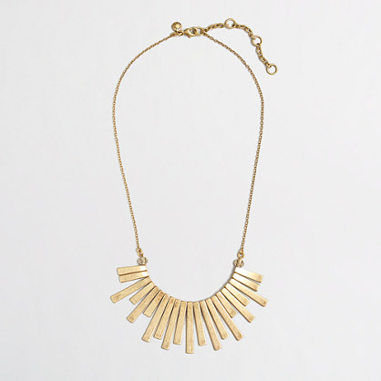 Factory gold tiers necklace